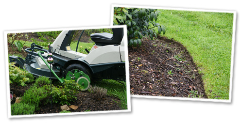 Rasenkanten schneiden mit dem Drees RasenkantenProfi
