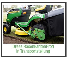 Transportstellung: Besser als ein Rasenkantenstecher